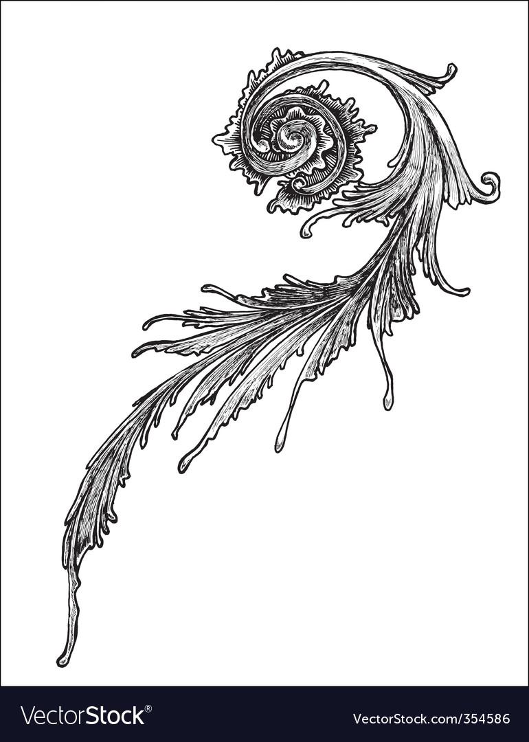 Victorian ornament 1 vector