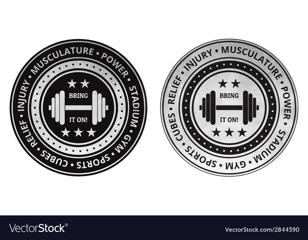 Bodybuilding fitness gym icons on a white vector