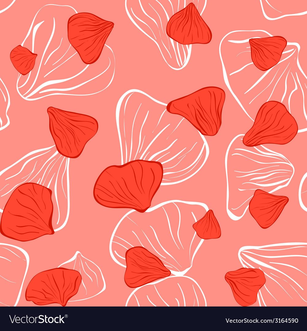 Pink seamless with flower petal vector