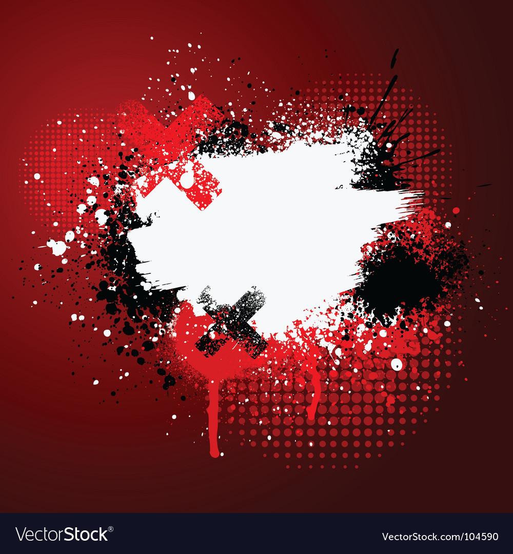 Red paint splatter vector