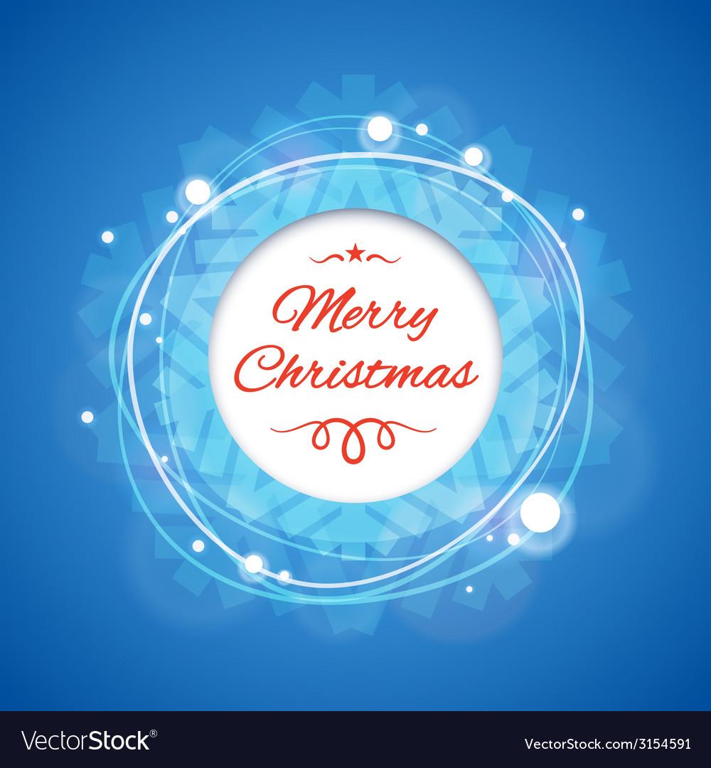 Blue merry christmas banner vector