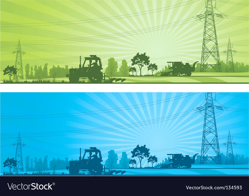 Agriculture landscape vector