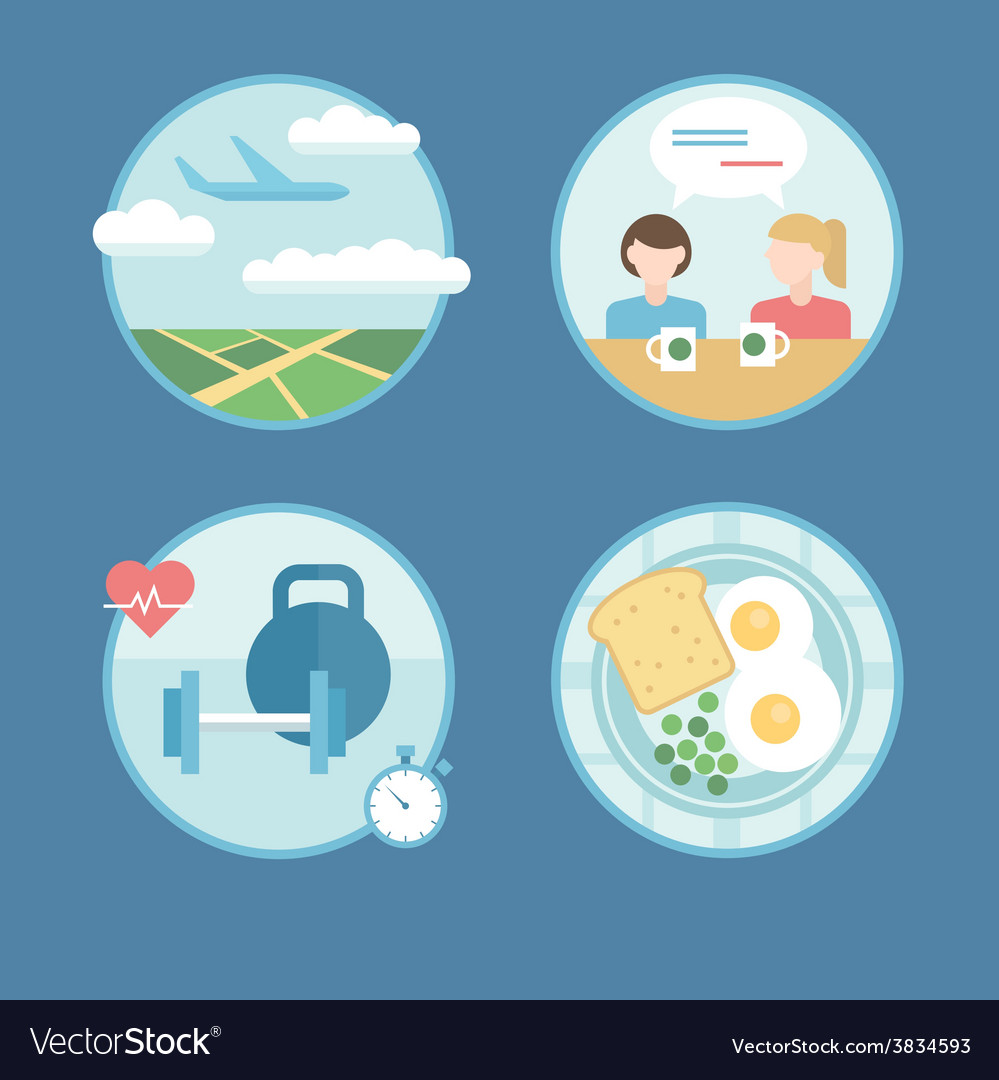 Modern icons set in flat style vector