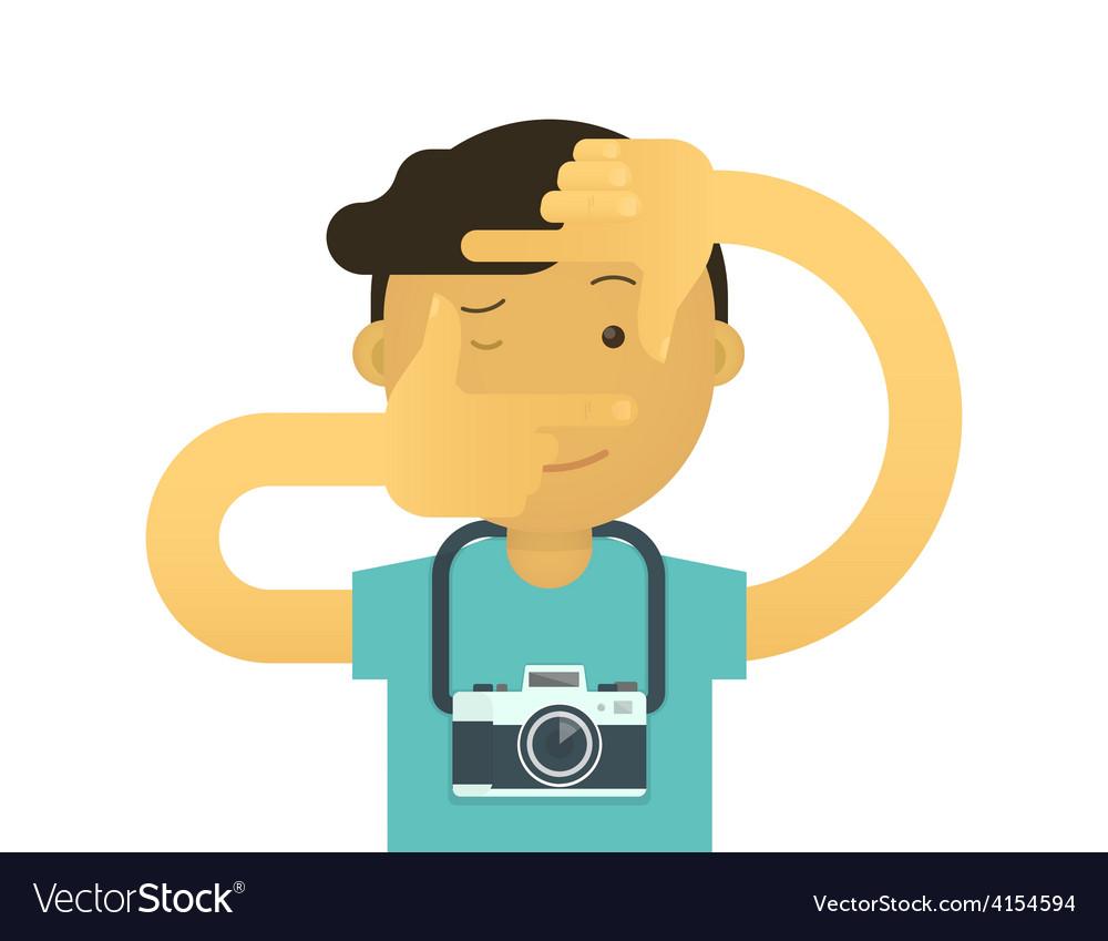 Creative photographer vector