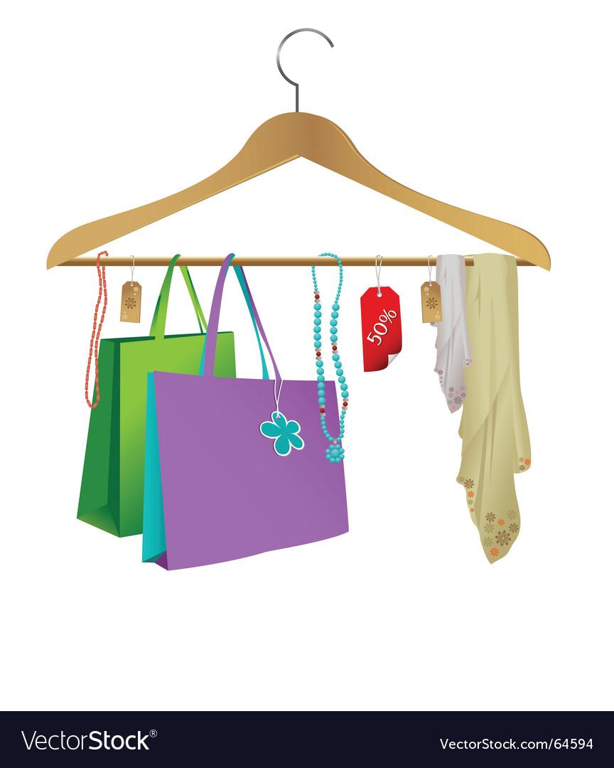 Fashion clothes hanger vector