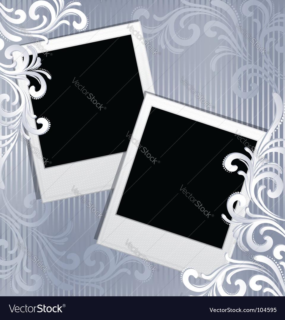 Scrapbook template vector