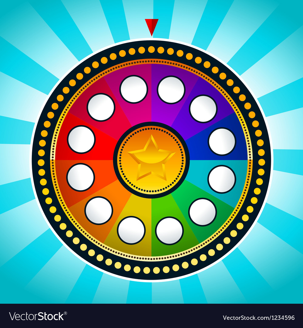 Colorful wheel of fortune vector