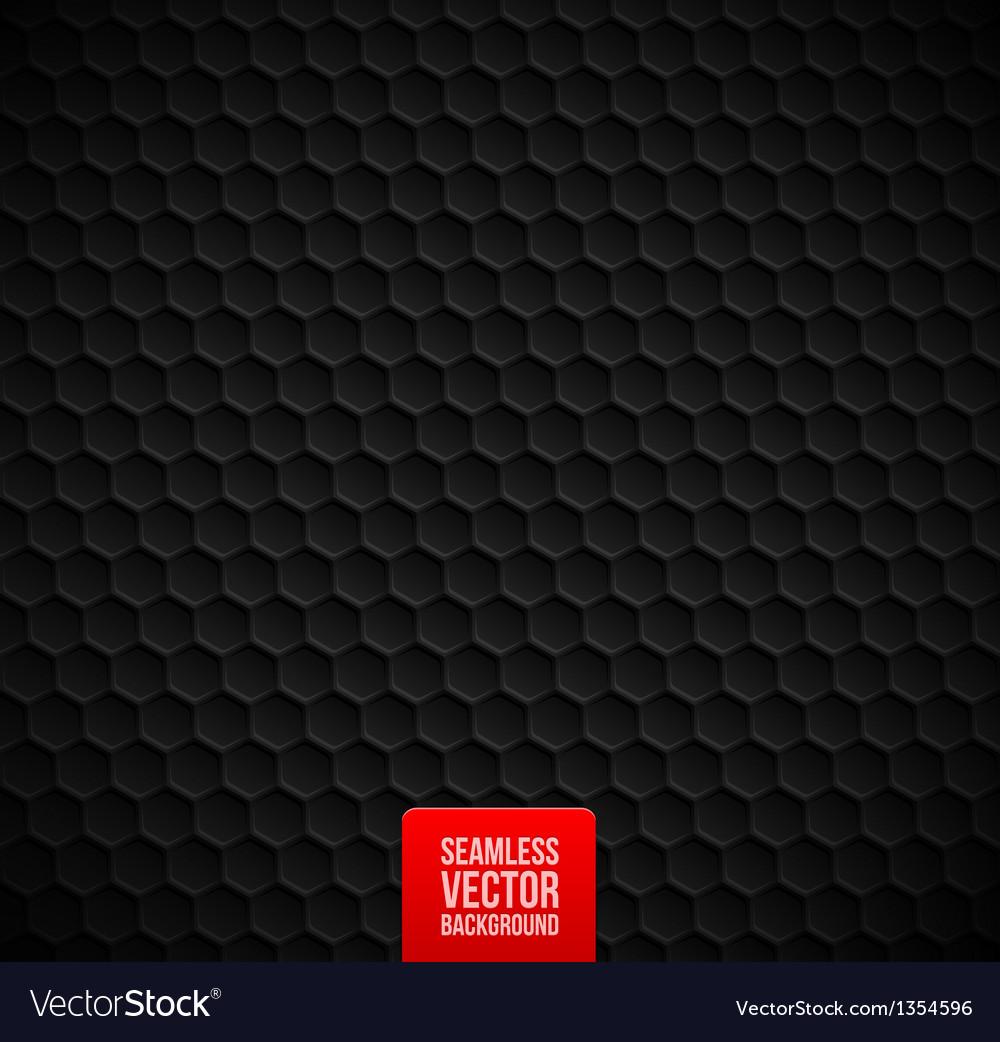 Hexagons seamless black background vector