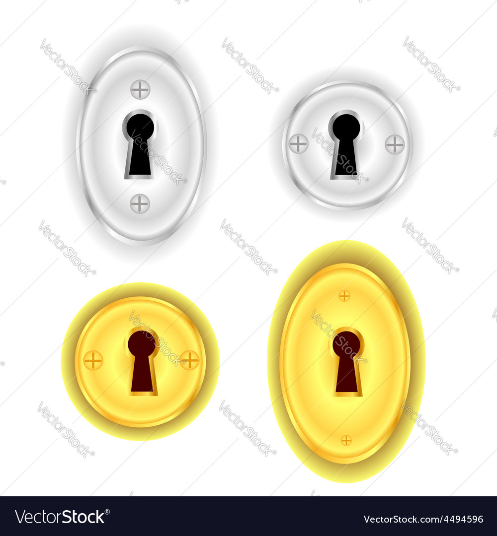 Key holes vector