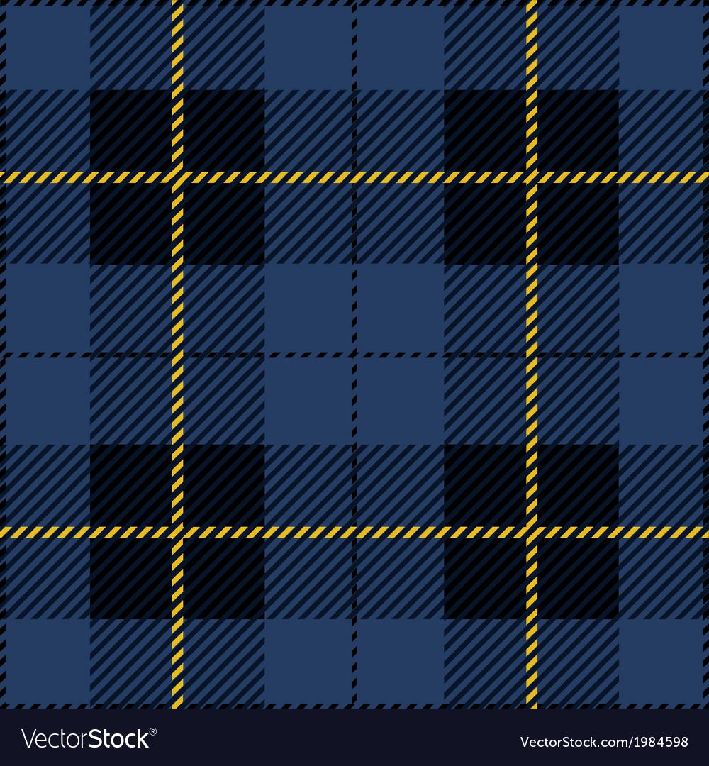 Blue seamless tartan plaid design vector
