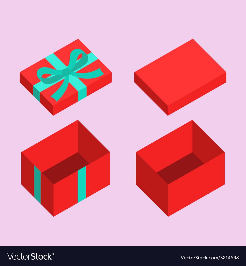 Christmas box vector
