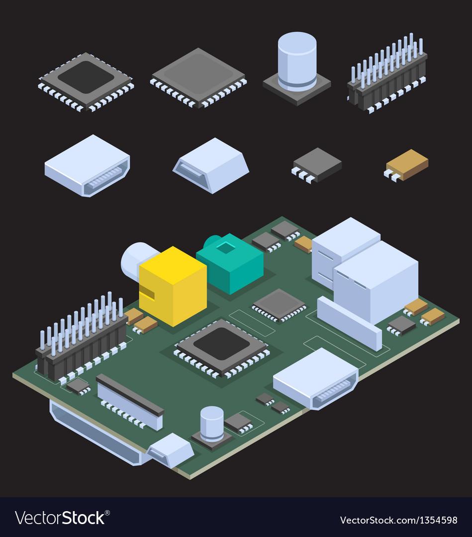 Computer chip vector