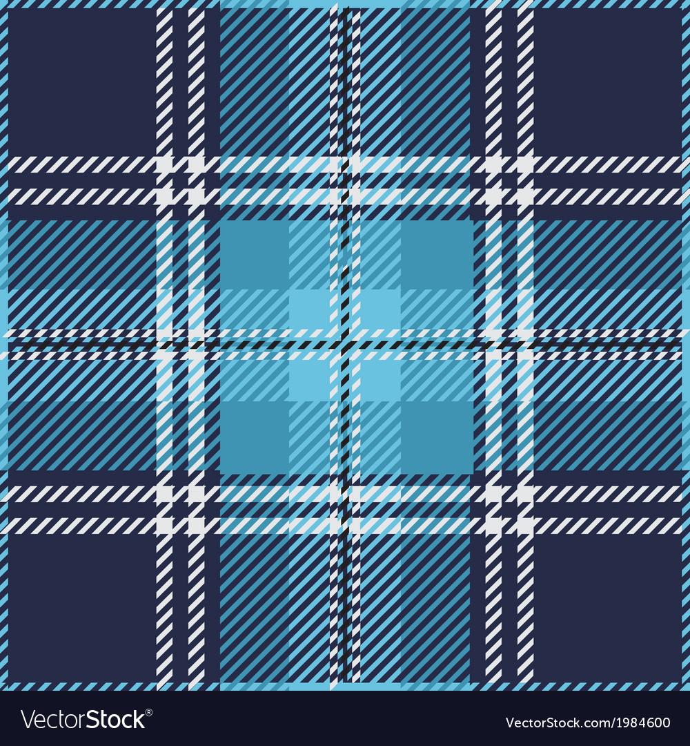 Blue tartan plaid pattern vector