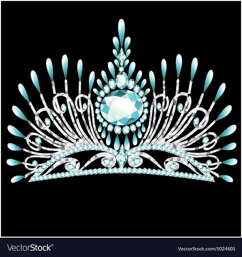 Gem crown vector