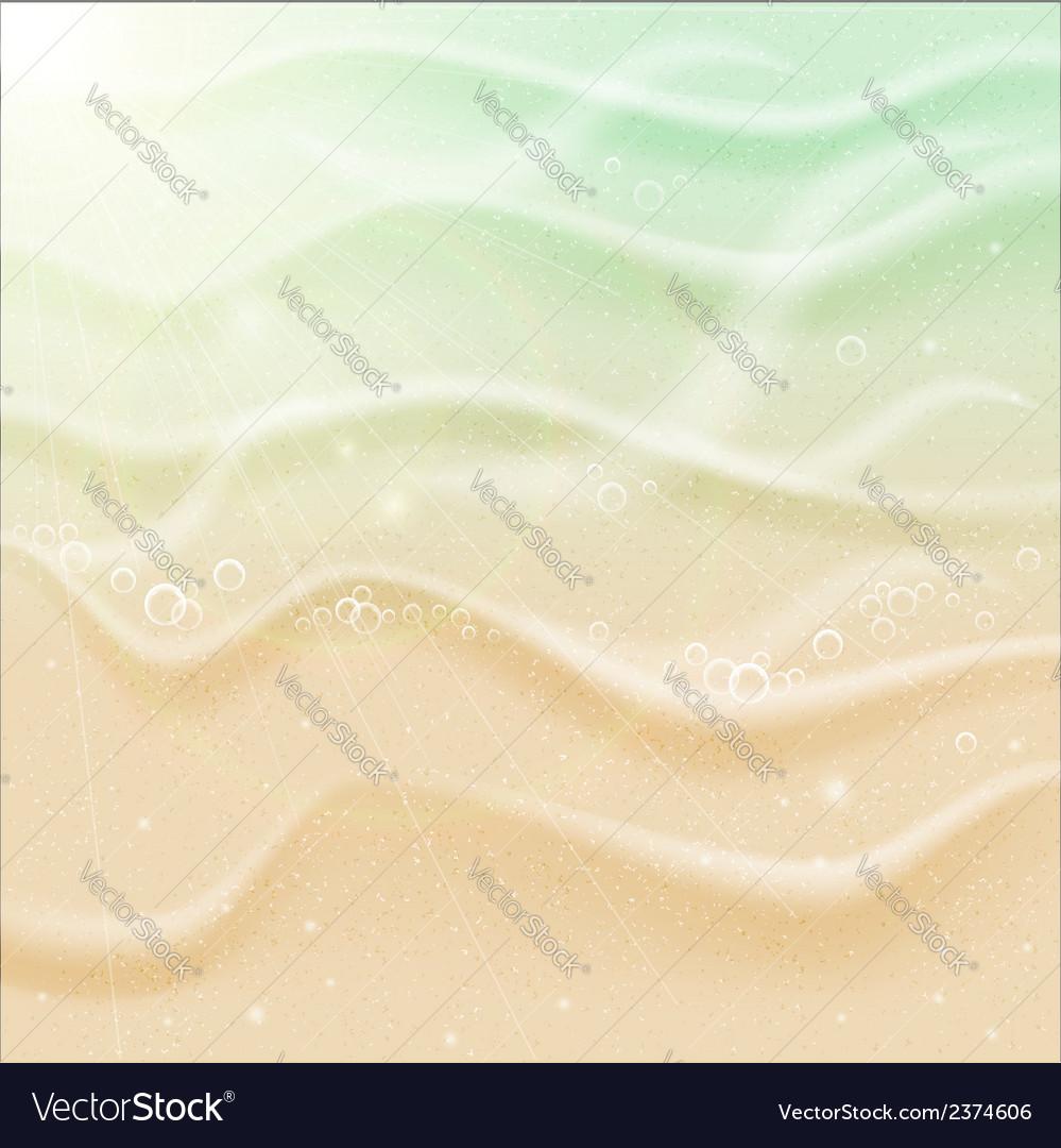 Sea beach sand vector