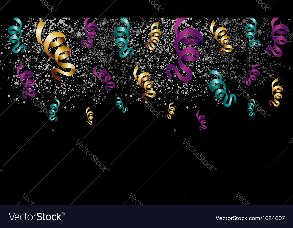 Halloween celebration with ribbons and confetti vector