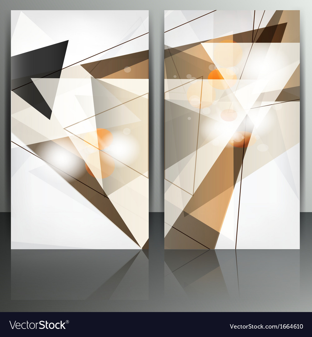 Set of abstract banners with lines and geometric vector