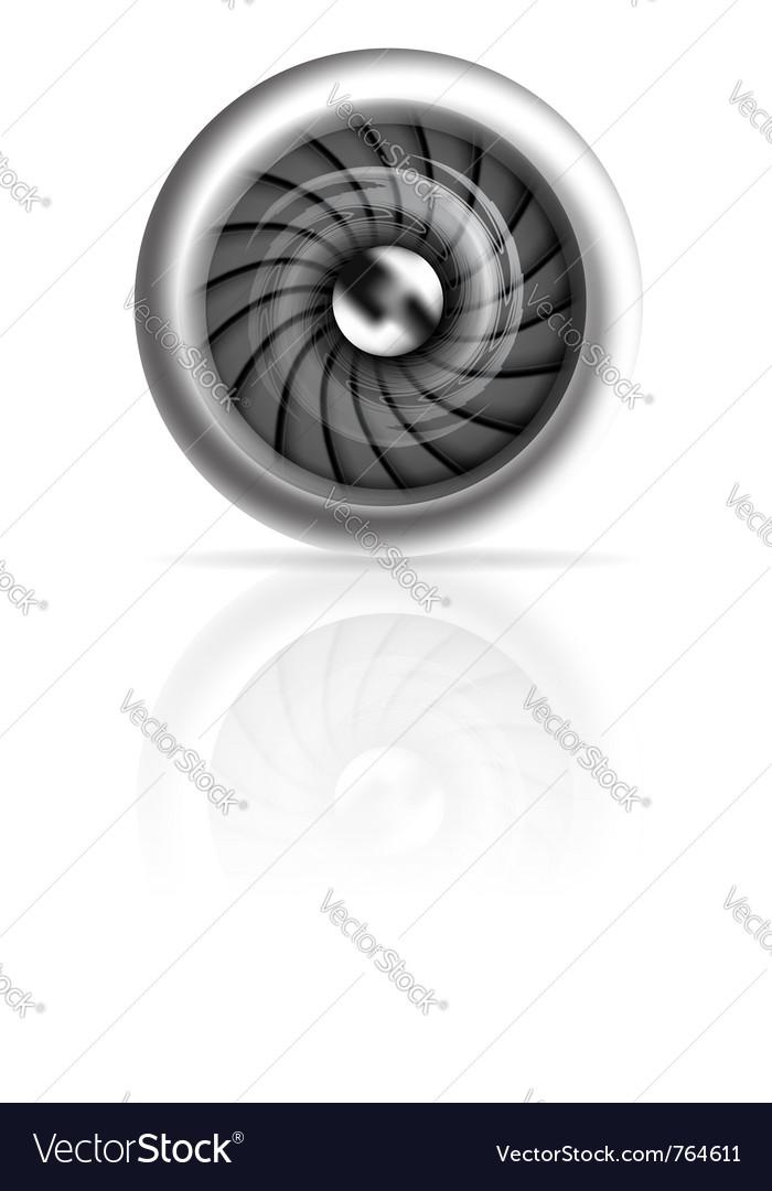 Jet engine vector