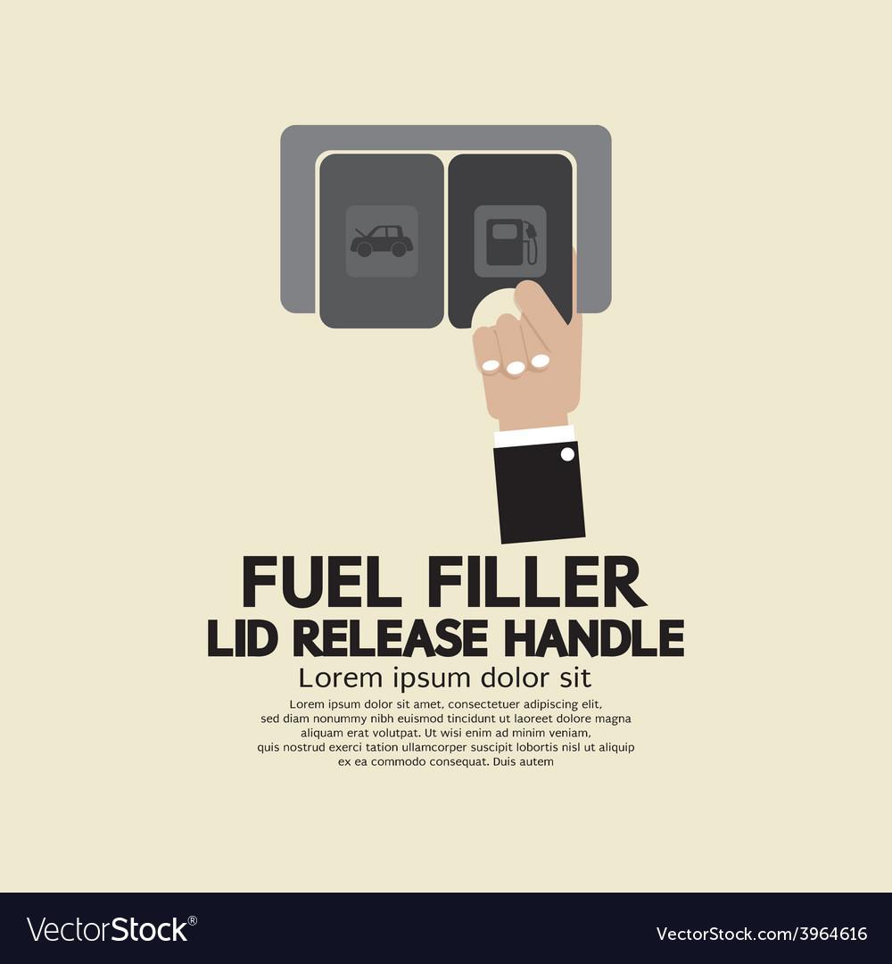 Fuel filler lid release handle vector