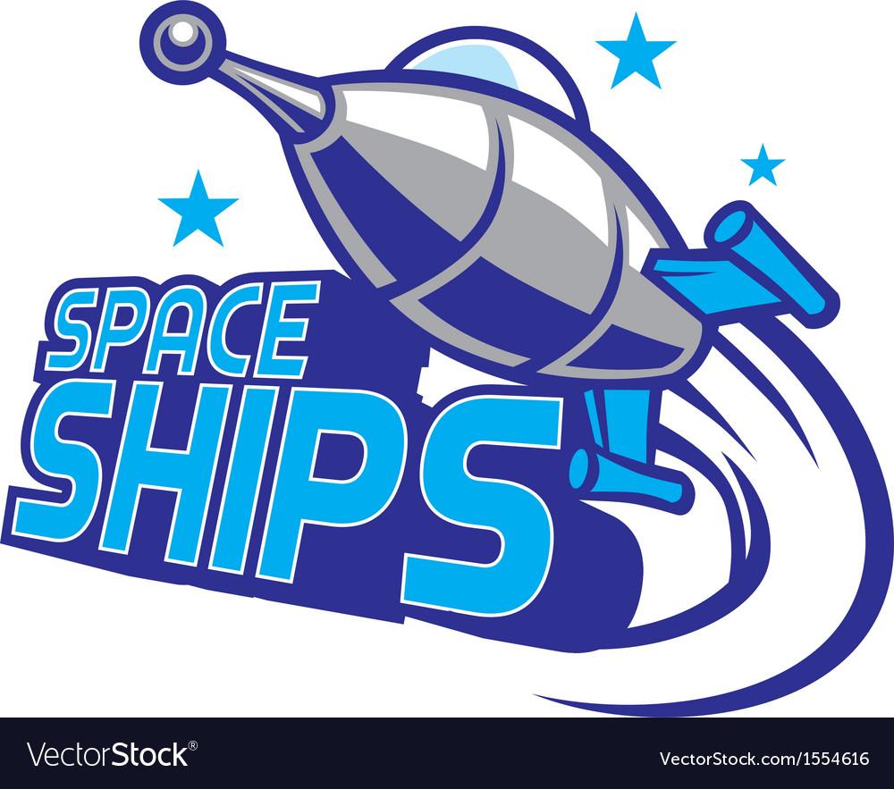 Spaceship mascot design vector