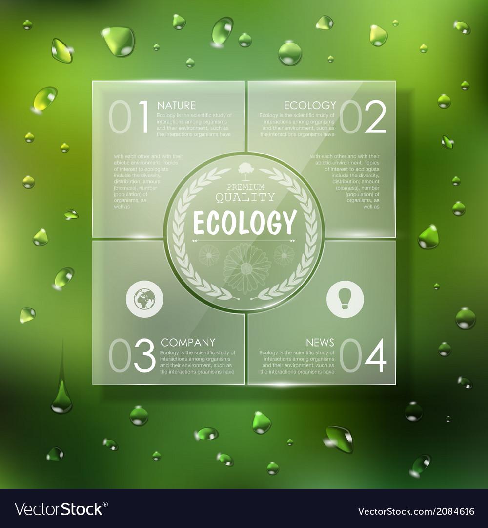 Website template design ecology background vector