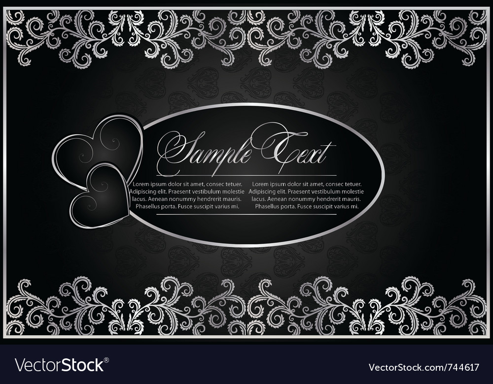 Antique black background vector
