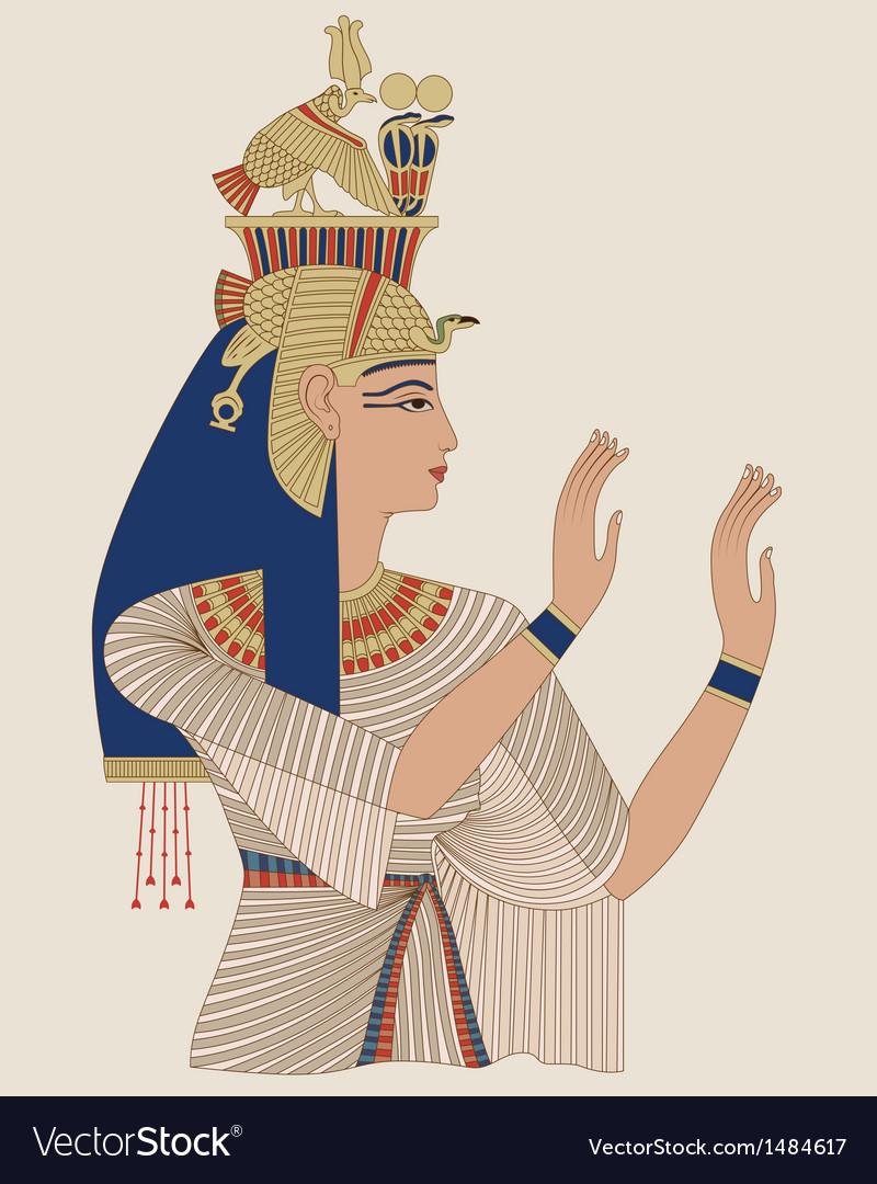 Egyptian queen taia vector