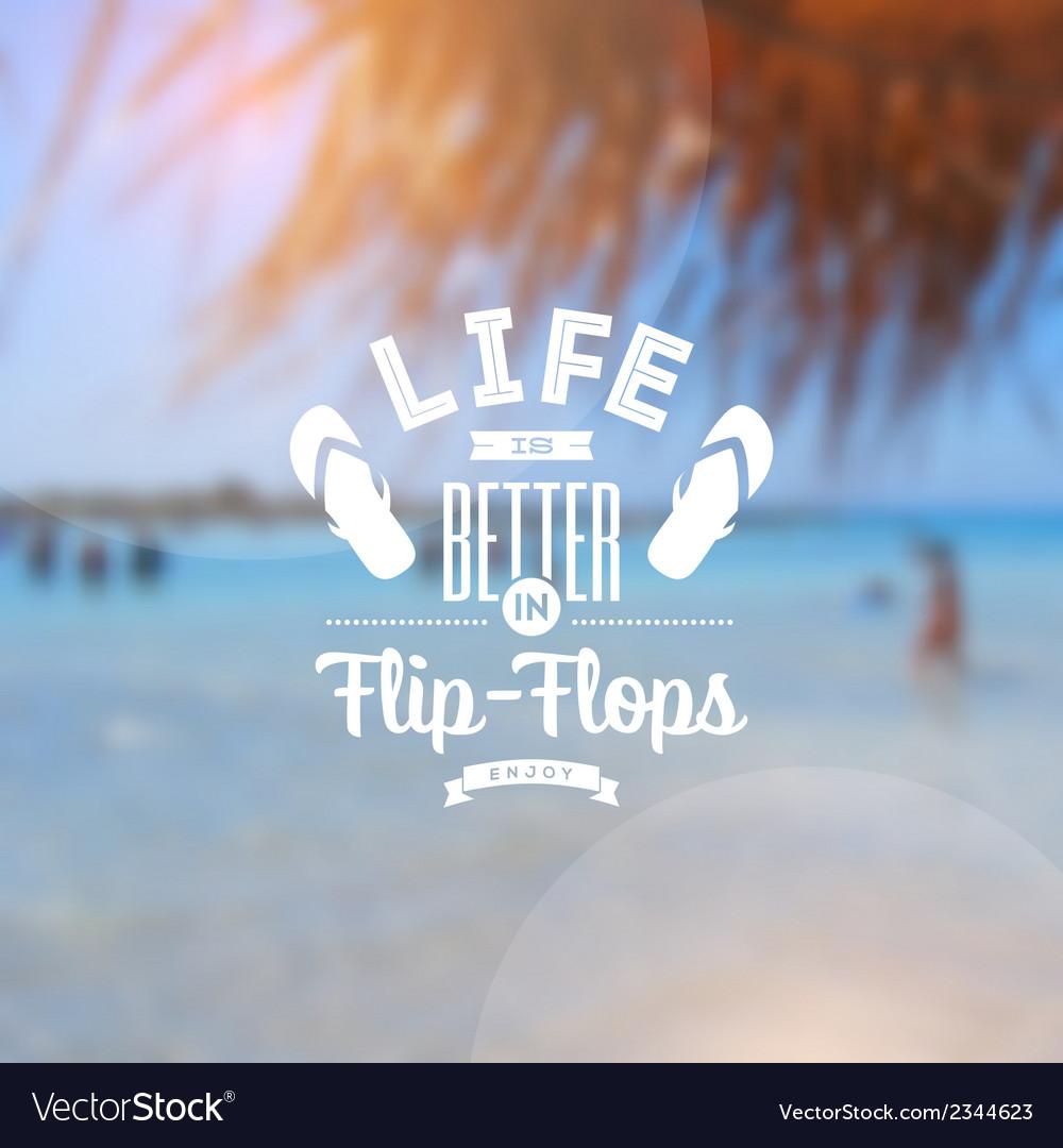 Beach vacation type design vector