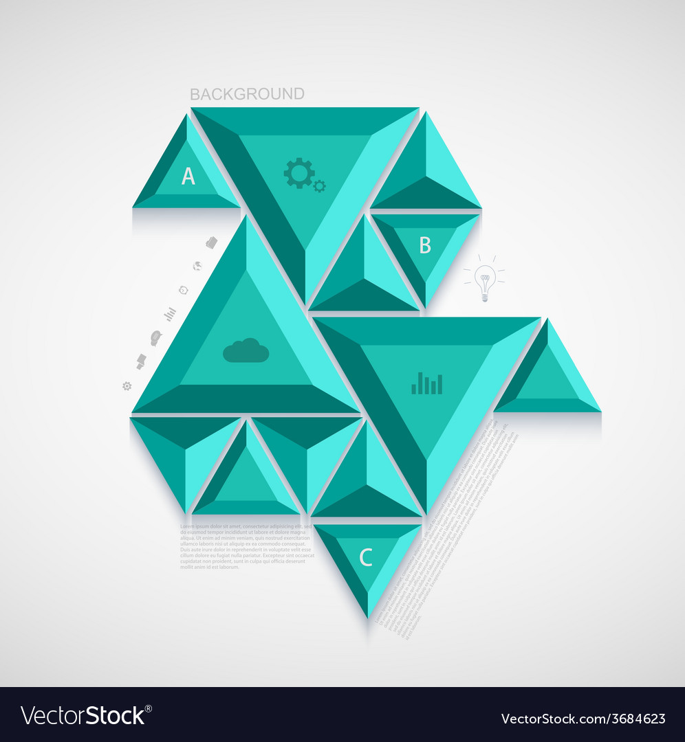 Modern triangle infographic design vector