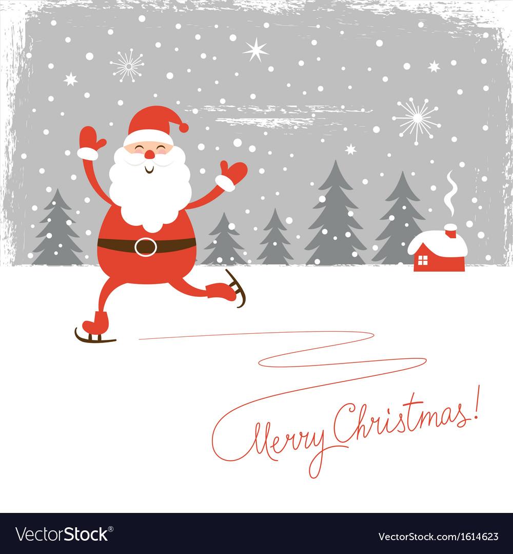 Santa skate vector