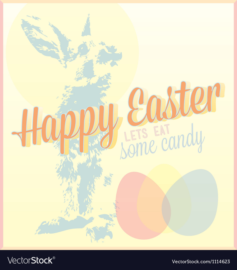 Vintage happy easter card or wallpaper vector