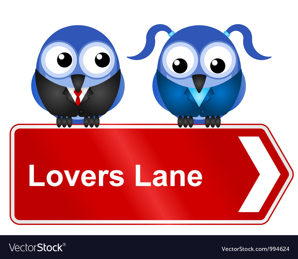 Lovers lane vector