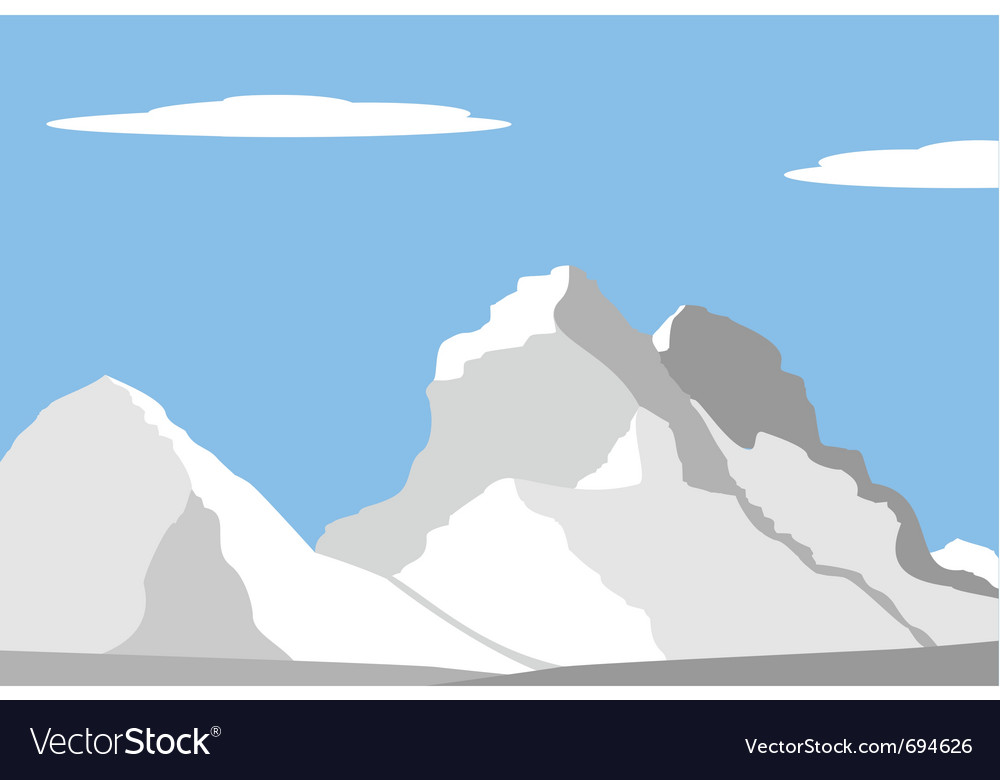 Beautiful peaks in alps vector