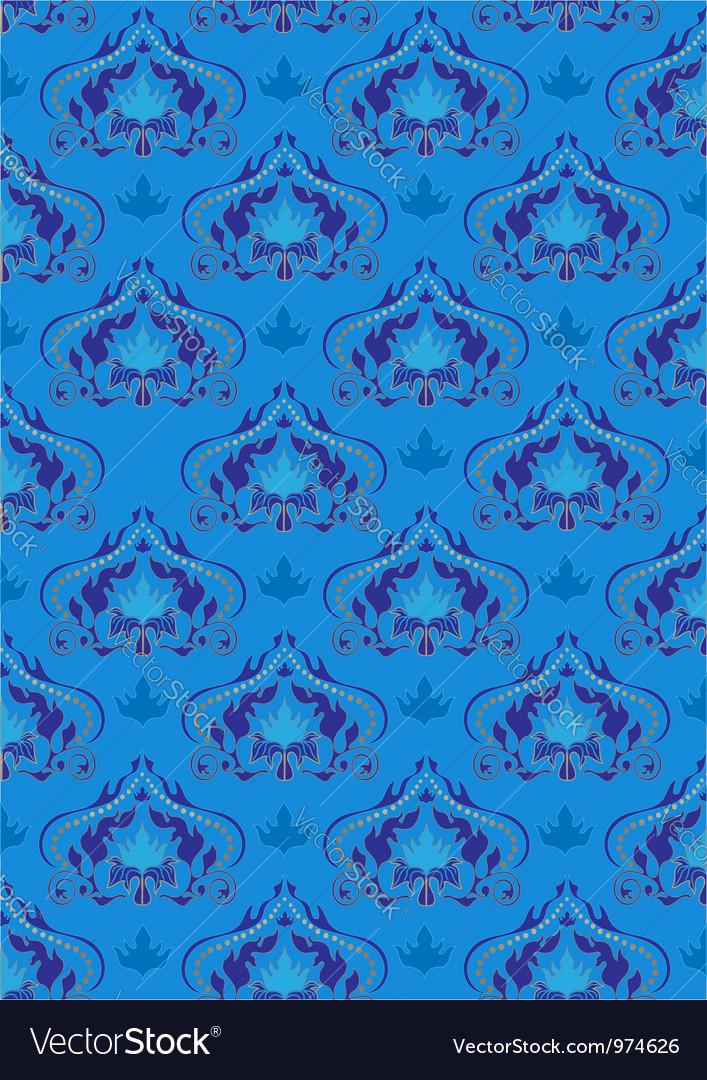 Oriental blue background vector