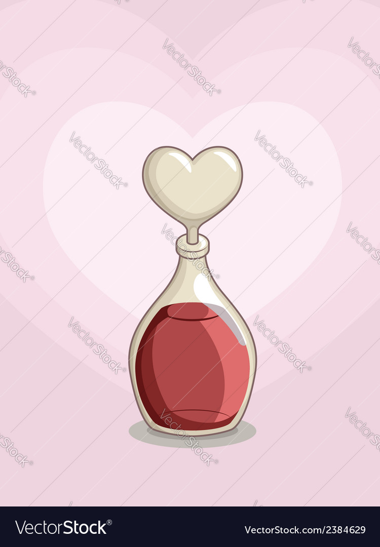 Bottle of love potion vector