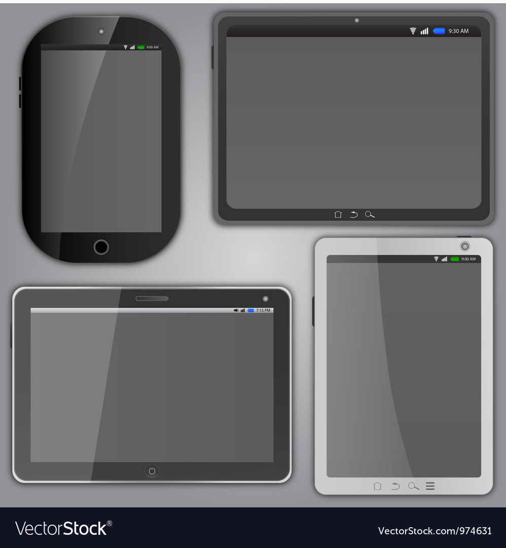 Tablet computers vector