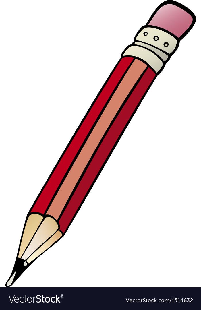 Pencil clip art cartoon vector