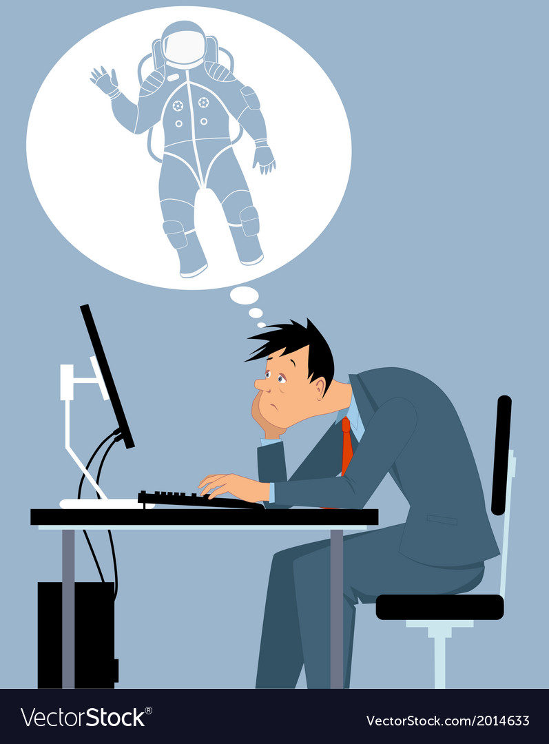 I want to be an astronaut vector