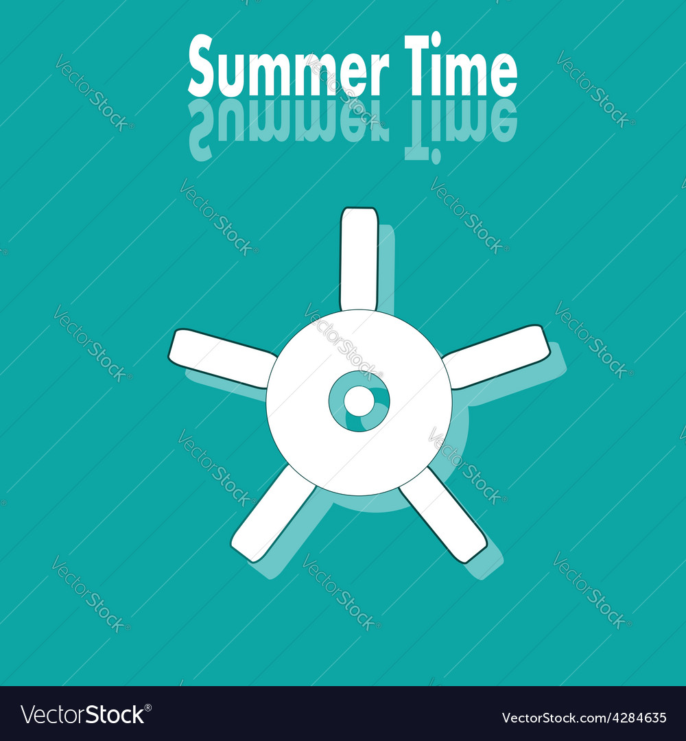 Summer time poster with wheel vector