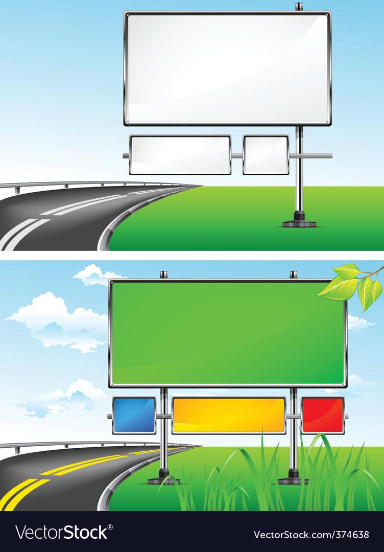 Highway billboards vector