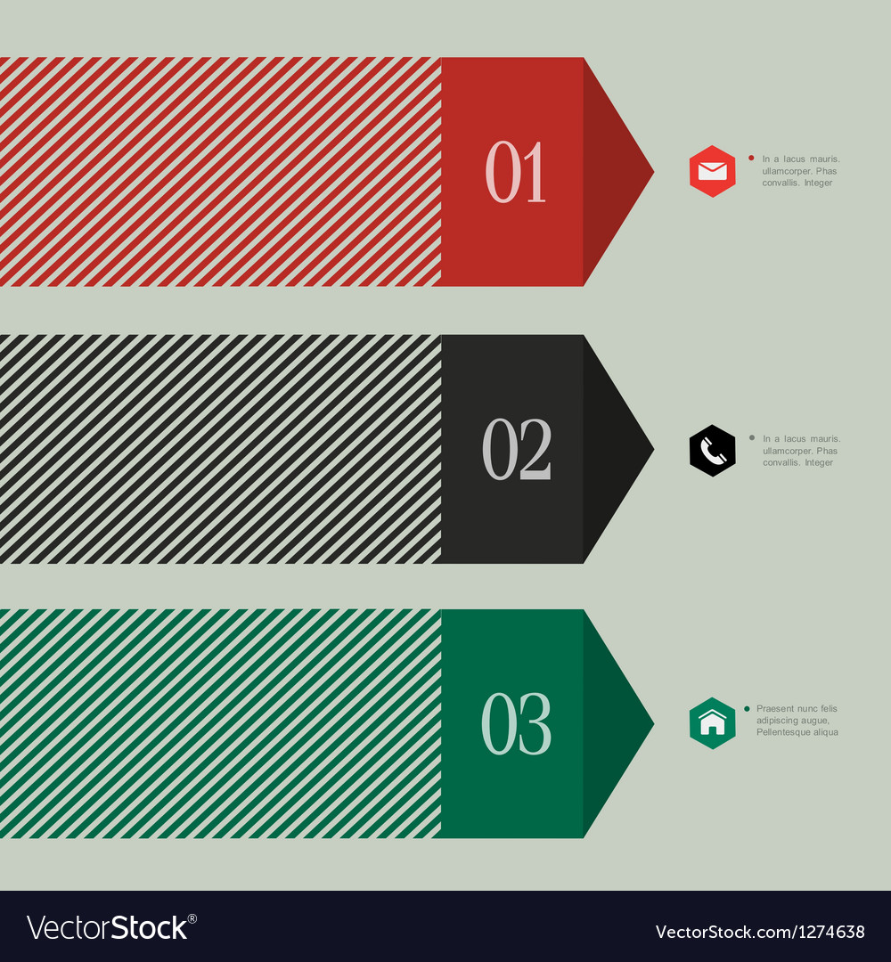 Trendy banner arrow design for infographics vector
