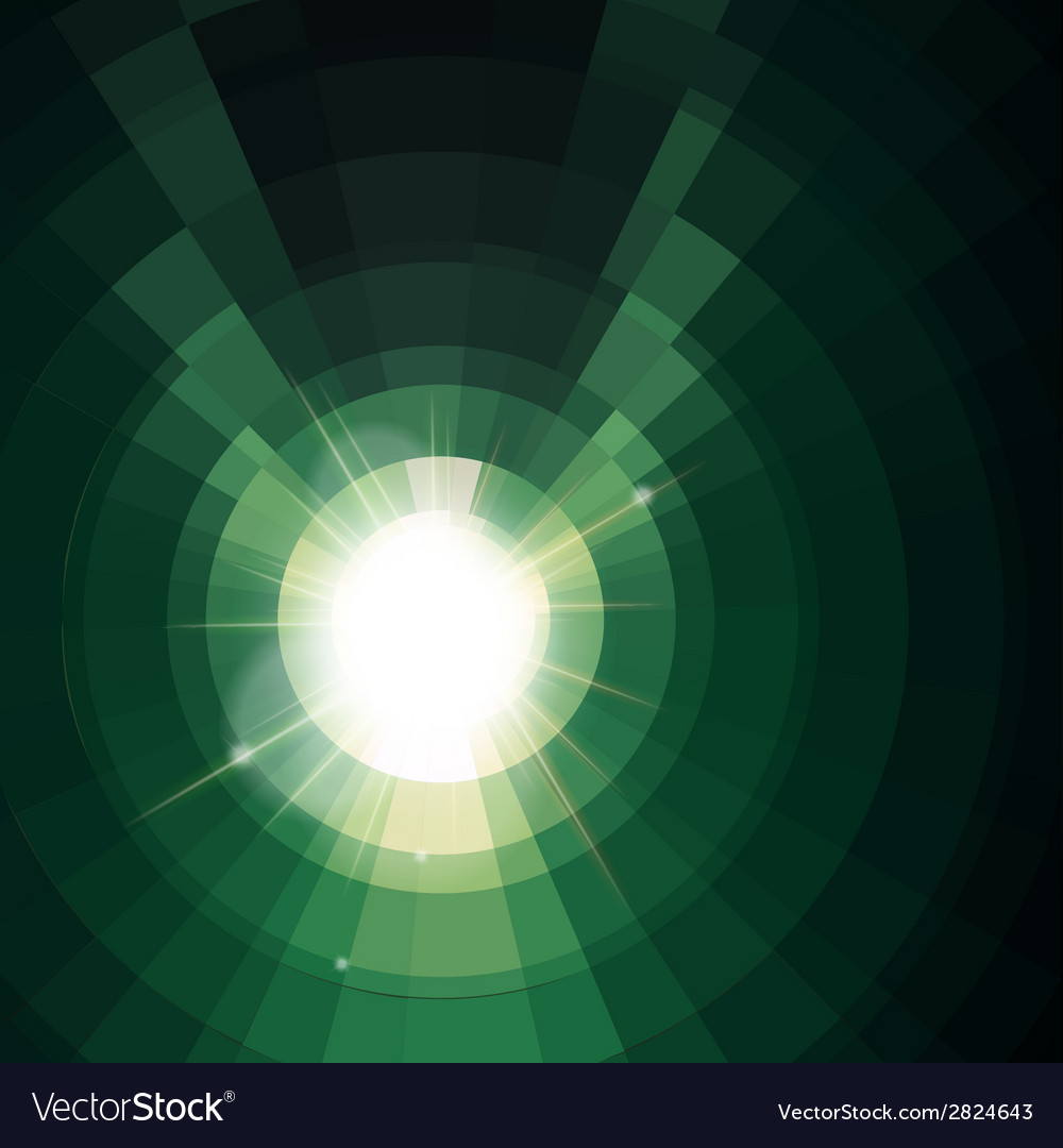 Abstract green lightning vector