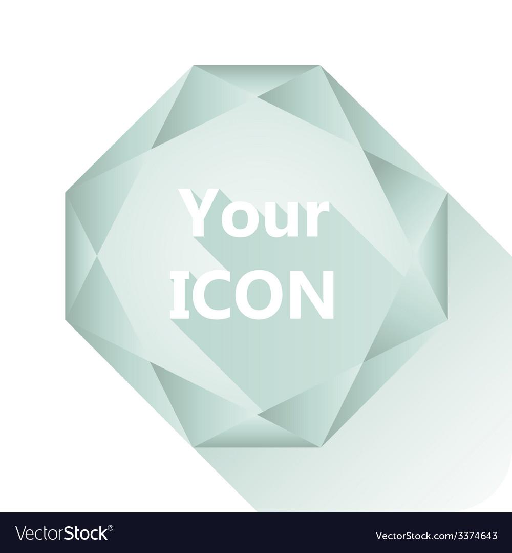 Diamond base for your logo vector