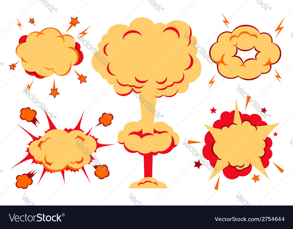 Bombs and blast set vector