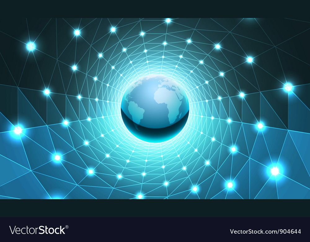 Earth in tunnel vector
