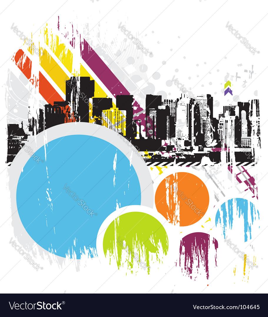 Urban grunge city vector