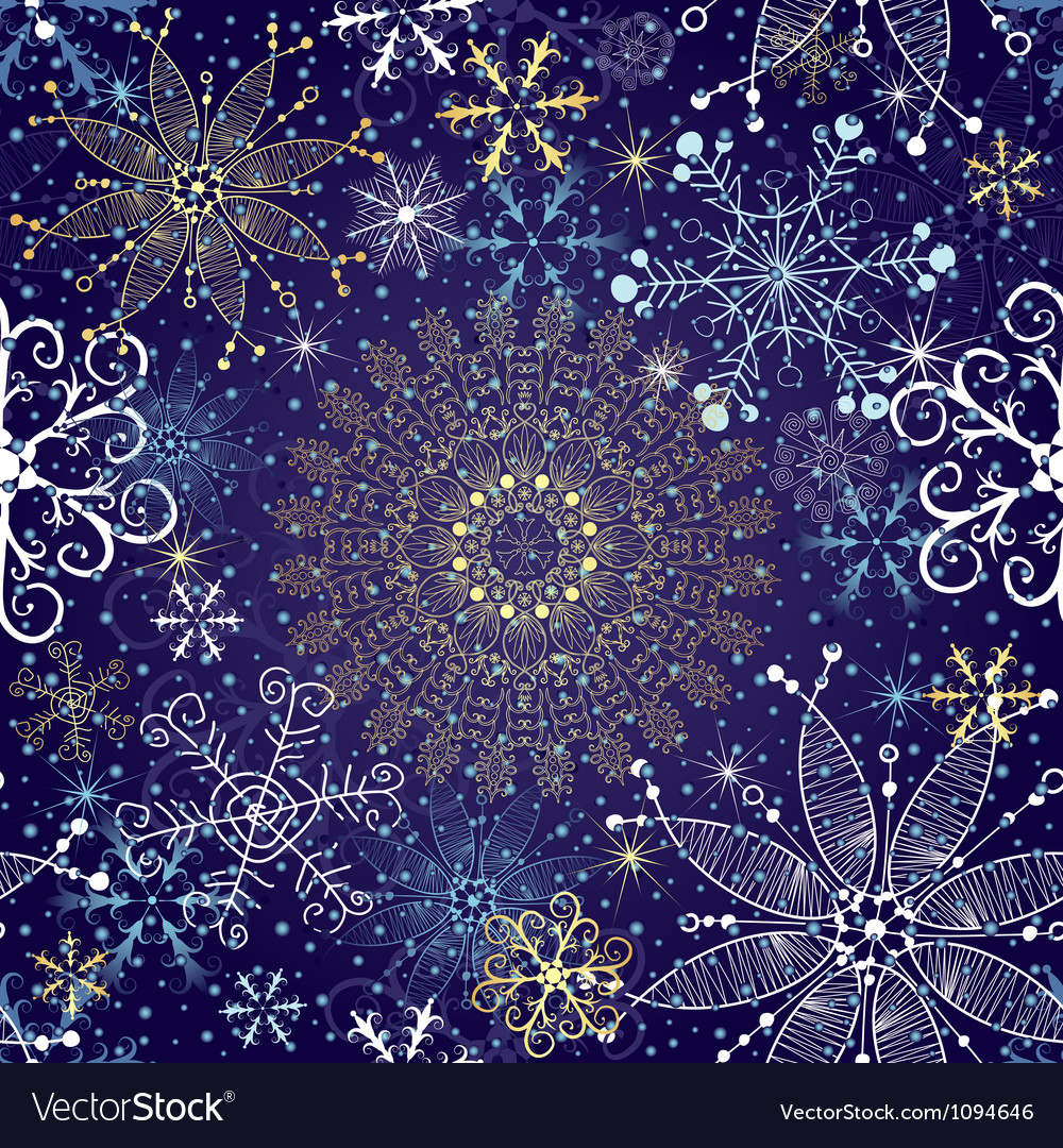 Christmas dark blue seamless pattern vector