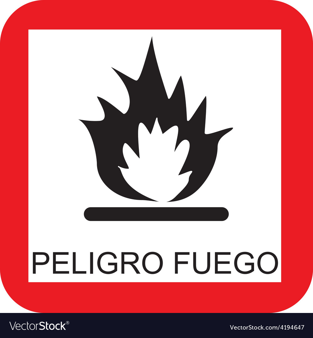 Fire risk sign vector