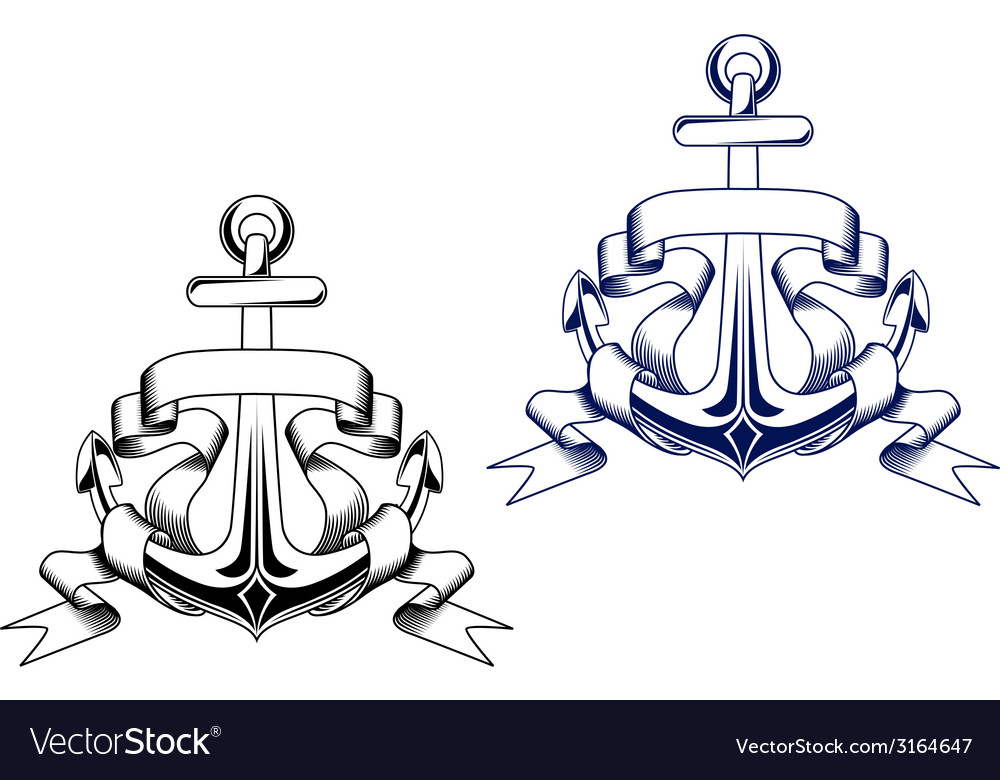 Vintage anchors vector