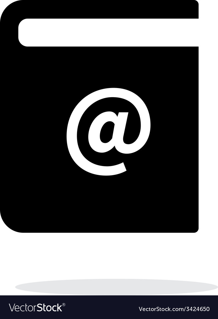 Address book simple icon on white background vector